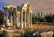 TURKEY, GREEK AND ROMAN Aphrodisias; columns of the Tetrapylon