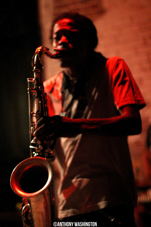 A member of the Hot 8 Brass Band performs at the Howlin Wolf on Sunday, June 5, 2011 in New Orleans, LA.