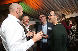 (left to right) Marine biologist Monty Halls, WWF Food Policy Manager Duncan Williamson, Technical and Director Quorn Geoff Bryant speak during the launch of Quorn new Vegan Fishless Fillets range, which it sets its sights on the high seas with a healthy and sustainable take on British classics