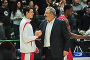 DESCRIZIONE : Campionato 2014/15 Dinamo Banco di Sardegna Sassari - Victoria Libertas Consultinvest Pesaro<br /> GIOCATORE : Romeo Sacchetti<br /> CATEGORIA : Fair Play<br /> SQUADRA : Victoria Libertas Consultinvest Pesaro<br /> EVENTO : LegaBasket Serie A Beko 2014/2015<br /> GARA : Dinamo Banco di Sardegna Sassari - Victoria Libertas Consultinvest Pesaro<br /> DATA : 17/11/2014<br /> SPORT : Pallacanestro <br /> AUTORE : Agenzia Ciamillo-Castoria / M.Turrini<br /> Galleria : LegaBasket Serie A Beko 2014/2015<br /> Fotonotizia : Campionato 2014/15 Dinamo Banco di Sardegna Sassari - Victoria Libertas Consultinvest Pesaro<br /> Predefinita :