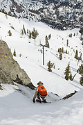 Davis Souza shows the rest of the contestants how to really shred the mountain