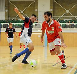 Bristol City Futsal attempt a shot at goal. - Photo mandatory by-line: Nizaam Jones - Mobile: 07583 387221 - 02/11/2014 - SPORT - Futsal - Gloucester - Gloucester University - v BCFC Futsal- Sport