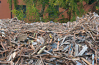 Pile of debris from a demolished house&#xA;<br />