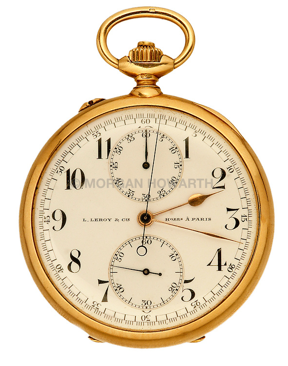 L.Leroy & Cie Hgers a Paris gold pocket watch