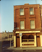 Old Dublin Amature Photos December 1983 WITH, Ellis Quay, Sarsfield Quay, Queen St, Old Ware House, Sarsfield Bar,