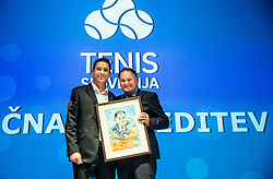 Gregor Krusic and Marko Umberger during Slovenian Tennis personality of the year 2017 annual awards presented by Slovene Tennis Association Tenis Slovenija, on November 29, 2017 in Siti Teater, Ljubljana, Slovenia. Photo by Vid Ponikvar / Sportida
