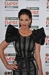 © under license to London News Pictures. Sarah Harding poses for photographs at the arrivals for this years Empire Film Awards at The Grosvenor House Hotel in London .Photo credit should read Theodore Wood/LNP
