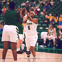 3rd year guard, Kyia Giles (6) of the Regina Cougars during the Women's Basketball Home Game on Thu Feb 14 at Centre for Kinesiology,Health and Sport. Credit: Arthur Ward/Arthur Images