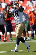 SAN FRANCISCO - SEPTEMBER 17:  Running back Stephen Davis #48 of the St. Louis Rams catches a pass during pregame warmups against the San Francisco 49ers at Monster Park on September 17, 2006 in San Francisco, California. The Niners defeated the Rams 20-13. ©Paul Anthony Spinelli *** Local Caption *** Stephen Davis