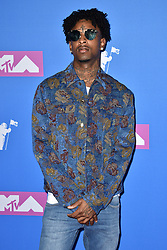 File photo dated August 20, 2018 of 21 Savage attending the 2018 MTV Video Music Awards at Radio City Music Hall on August 20, 2018 in New York City, NY, USA. The Grammy-nominated, Atlanta-based rapper 21 Savage has been arrested by US Immigration and Customs Enforcement (Ice) officials who said he was in the country illegally. Authorities said the musician was a British national who had entered the US legally in 2005 but failed to leave under the terms of a non-immigrant visa, which expired in July 2006. Photo by Lionel Hahn/ABACAPRESS.COM