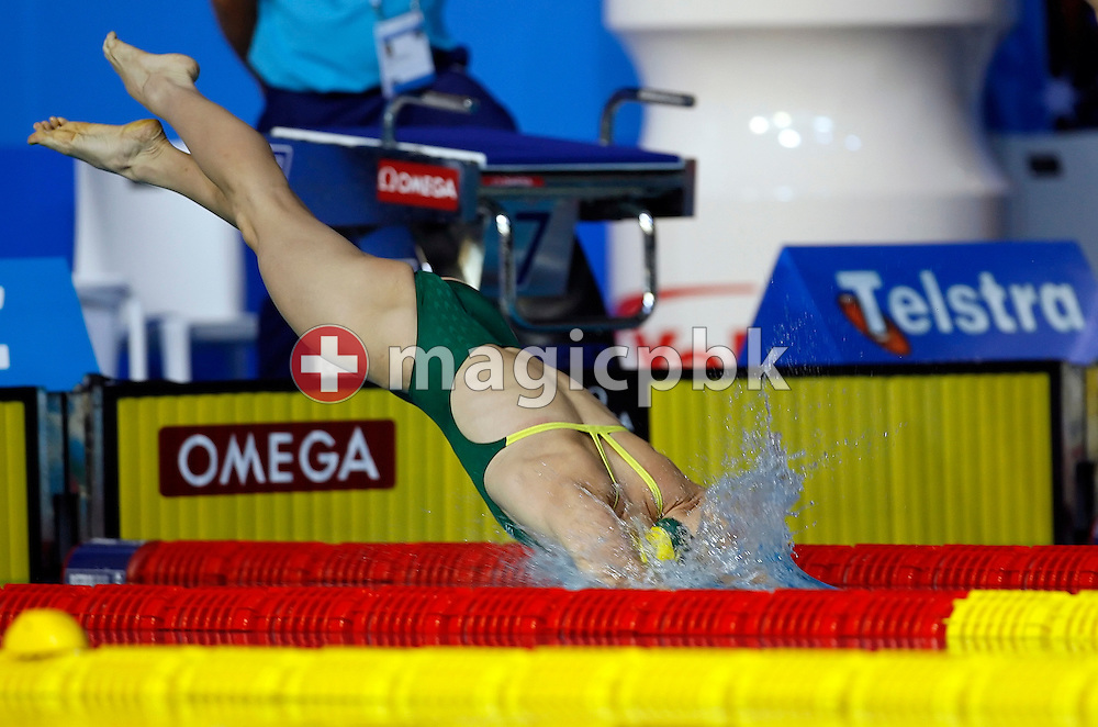Sally FOSTER of Australia starts in the women's 200m breaststroke heats in the Susie O'Neill pool at the FINA Swimming World Championships in Melbourne, Australia, Thursday 29 March 2007. (Photo by Patrick B. Kraemer / MAGICPBK)