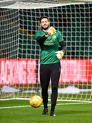 Celtic's Craig Gordon during the warm up before the Scottish Premiership match at Celtic Park, Glasgow.