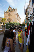Sunday market at Campos around the church.