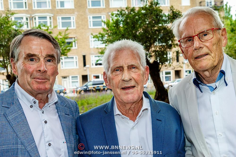 NLD/Amsterdam/20180614 - Doop rondvaartboot Jan Janssen, Hennie Kuiper, Ab Geldermans