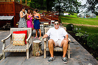 Celebrity Chef Jose Garces joins at his  country home outside of Philadelphia.<br /> <br /> Scott Lewis for The Wall Street Journal<br /> TOT_POOL