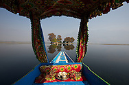 Shikara, Dal lake, Srinagar, Jammu and Kashmir, India.