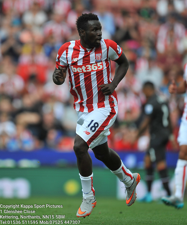 MAME DIOUF STOKE CITY, Liverpool FC, Stoke City v Liverpool, Premiership, Britannia Stadium Sunday 9th August 2015Stoke City v Liverpool, Premiership, Britannia Stadium Sunday 9th August 2015