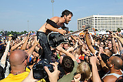 The Dillinger Escape Plan performs on Warped Tour at Nassau Coliseum, NYC. July 17, 2010. Copyright © 2010 Matt Eisman. All Rights Reserved.