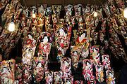 Oshie Hagoita display during the new year celebrations Tokyo Japan