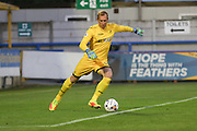 Swansea City goalkeeper Gerhard Tremmel (25) during the EFL Trophy match between AFC Wimbledon and U23 Swansea City at the Cherry Red Records Stadium, Kingston, England on 30 August 2016. Photo by Stuart Butcher.