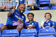 Birmingham Fans during the Sky Bet Championship match between Birmingham City and Reading at St Andrews, Birmingham, England on 8 August 2015. Photo by Alan Franklin.