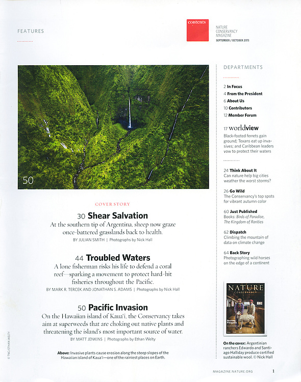Nature Conservancy: Table of Contents (September/October 2013)