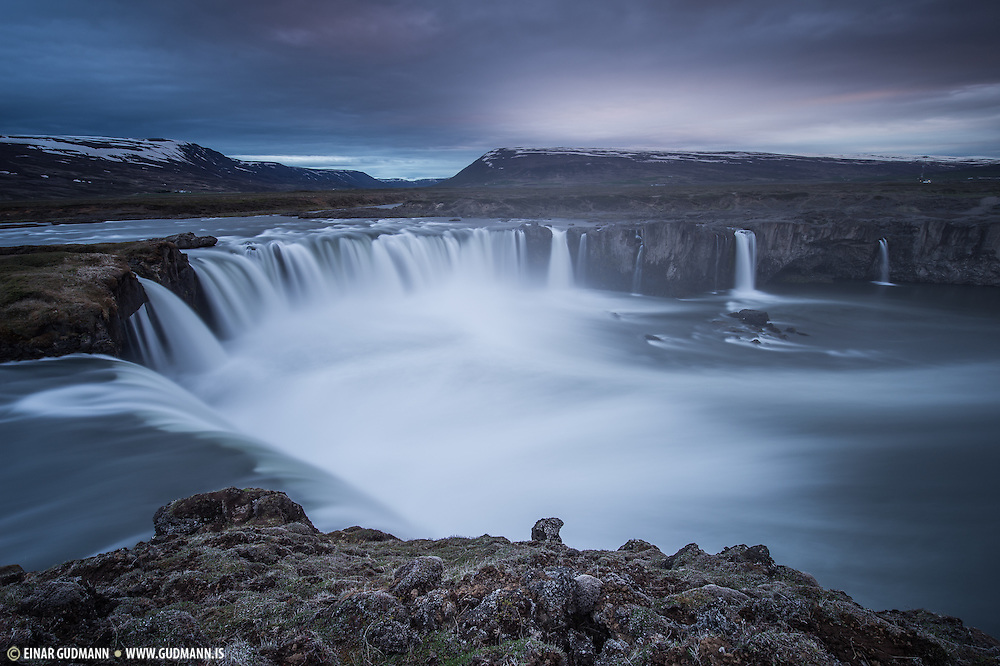 Godafoss is a waterfall near Akureyri.