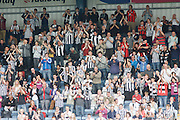 St Mirren fans at the end - Dundee v St Mirren, Clydesdale Bank Scottish Premier League at Rugby Park.. - © David Young - 5 Foundry Place - Monifieth - DD5 4BB - Telephone 07765 252616 - email: davidyoungphoto@gmail.com - web: www.davidyoungphoto.co.uk