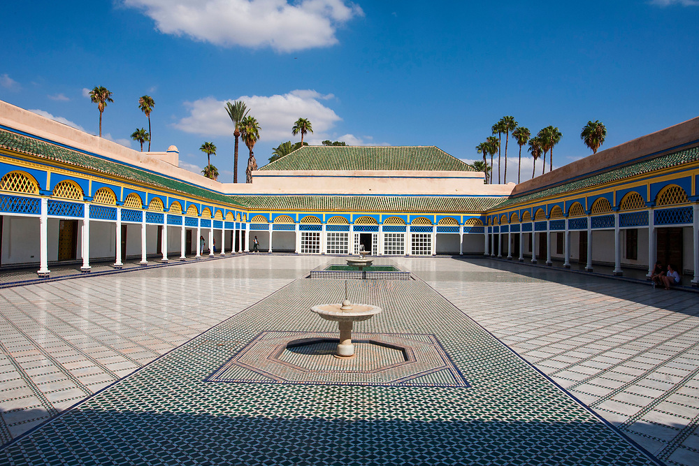 Marrakech, Morocco, city, Africa, architecture, color, tile, palace, fountain, travel, tourism, adventure