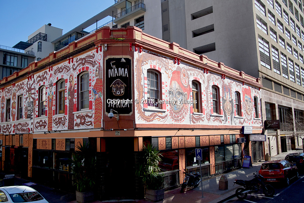 Restaurant along Long Street in Cape Town.<br />