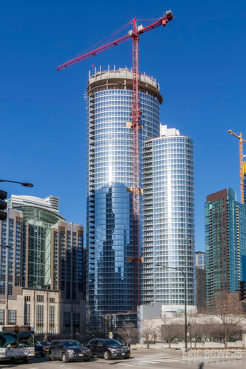 465 North Park residential tower under construction in Chicago