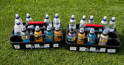 CARDIFF, WALES - Wednesday, September 4, 2013: Powerade and water bottles during a training session at the Vale of Glamorgan ahead of the 2014 FIFA World Cup Brazil Qualifying Group A match against Macedonia. (Pic by David Rawcliffe/Propaganda)
