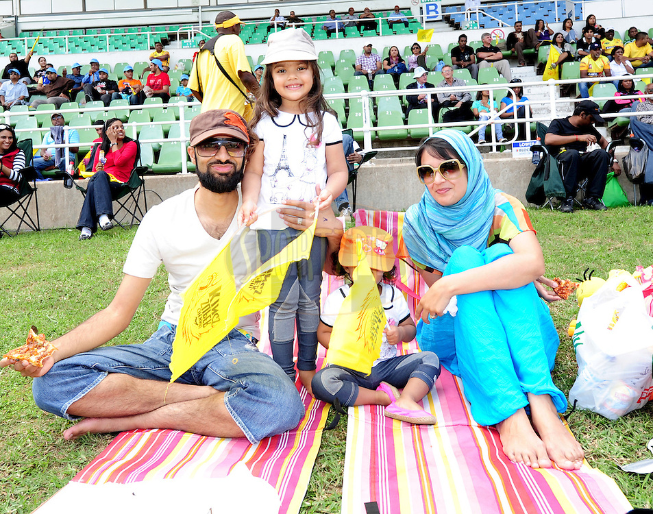 family time during match 17 of the Karbonn Smart CLT20 South Africa between The Chennai Superkings and Yorkshire held at Kingsmead Park in Durban, South Africa on the 22nd October 2012..Photo by Gerhard Duraan/SPORTZPICS/CLT20