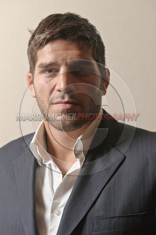 "A portrait of mixed martial arts athlete Patrick ""The Predator"" Cote"