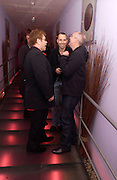 Sir Elton John, David Furnish and Neil Tennant, Theo Fennell party to celebrate their 21st Anniversary. The Collection. 28 October 2003. © Copyright Photograph by Dafydd Jones 66 Stockwell Park Rd. London SW9 0DA Tel 020 7733 0108 www.dafjones.com