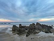 Stunning sunset at Old Orchard Beach, Maine