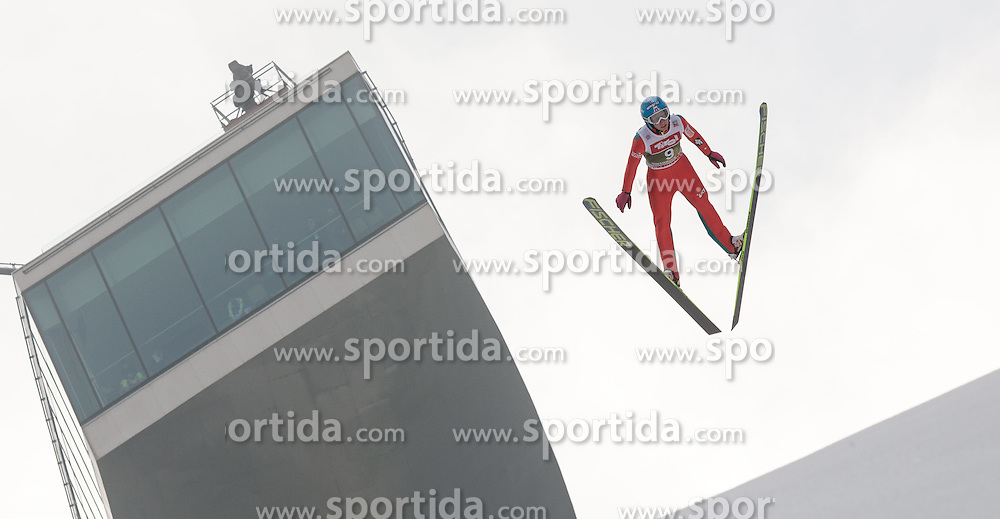 03.01.2015, Bergisel Schanze, Innsbruck, AUT, FIS Ski Sprung Weltcup, 63. Vierschanzentournee, Innsbruck, Training, im Bild Krzysztof Biegun (POL) // Krzysztof Biegun of Poland soars through the air during a training session for the 63rd Four Hills Tournament of FIS Ski Jumping World Cup at the Bergisel Schanze in Innsbruck, Austria on 2015/01/03. EXPA Pictures © 2015, PhotoCredit: EXPA/ Jakob Gruber