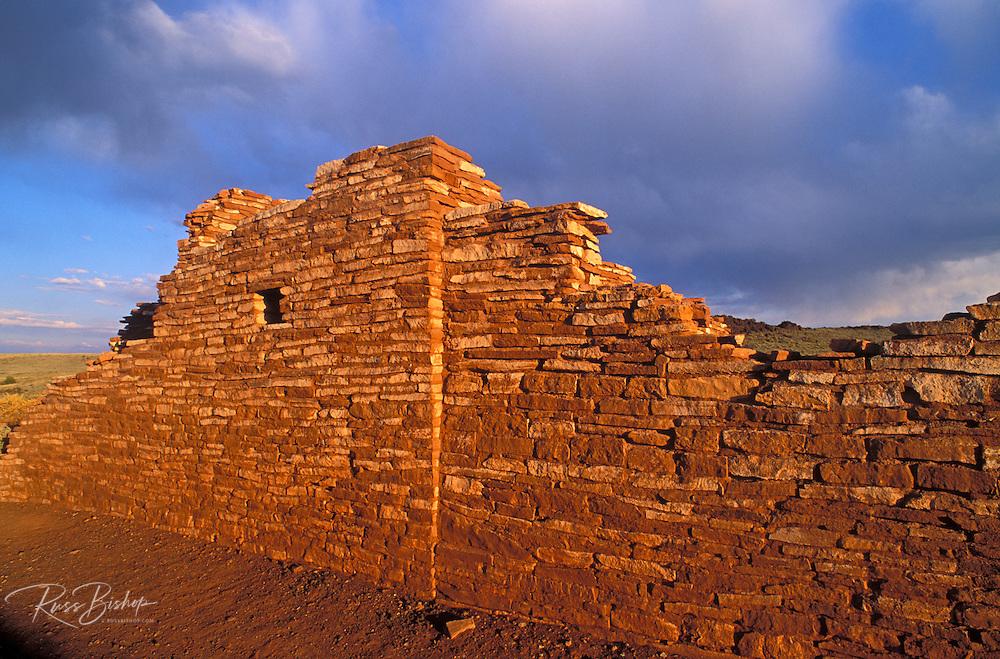 Evening light on Lomaki Ruins, Wupatki National Monument, Arizona