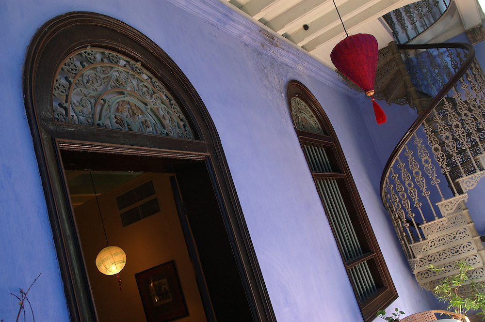 MALAYSIA: Penang island.Le Maison Blue (The Blue Mansion); a restored Chinese merchant's house