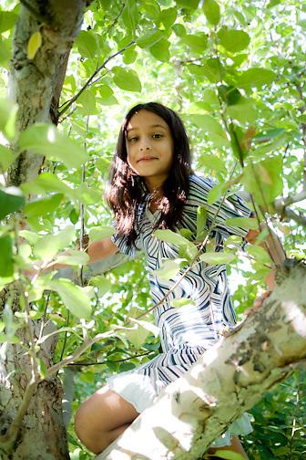 Apple picking portrait, 10/2011