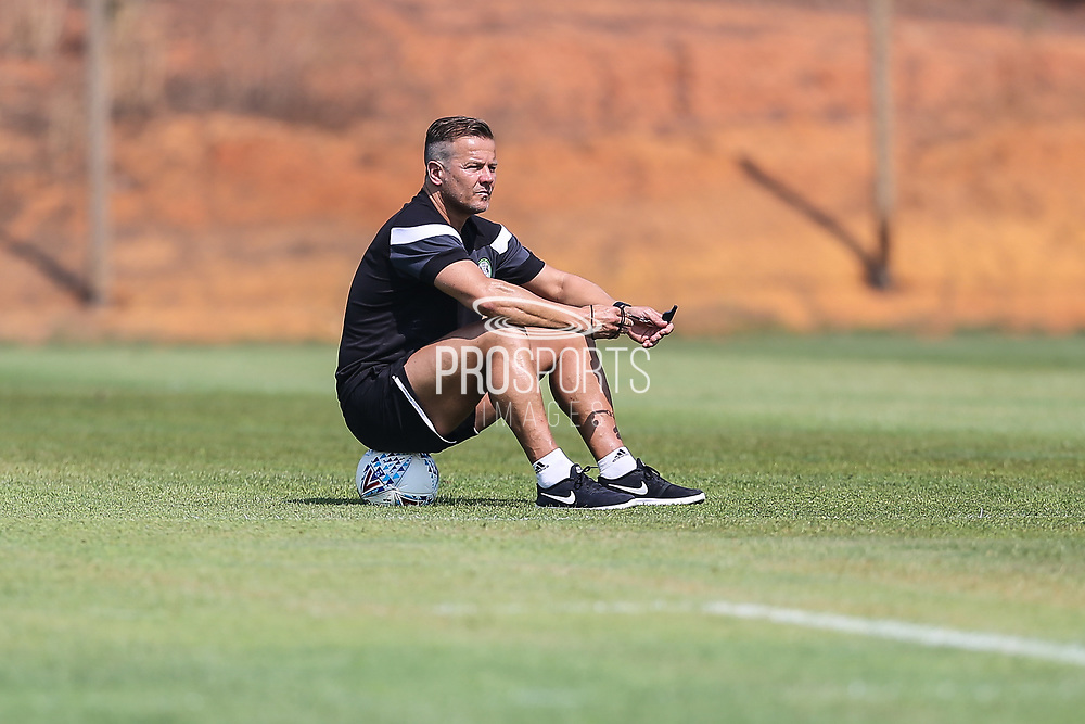 Forest Green Rovers manager, Mark Cooper during the Forest Green Rovers Training session at Browns Sport and Leisure Club, Vilamoura, Portugal on 25 July 2017. Photo by Shane Healey.