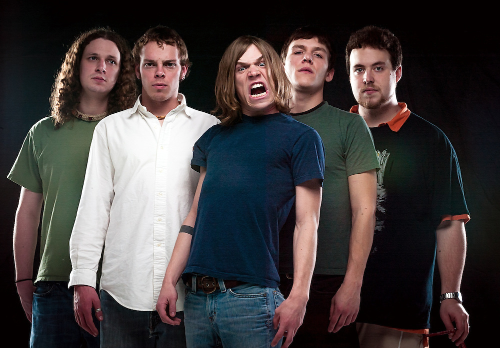 The band Perfect Confusion poses for a portrait Feb. 2, 2005 in Bowling Green, Ky. Three members of the band, Matthew Shultz, Brad Shultz and Jared Champion, would go on to form the Grammy Award-winning Cage the Elephant. (Photo by David Albers)