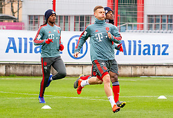 14.03.2019, Säbener Strasse, Muenchen, GER, 1. FBL, FC Bayern Muenchen vs 1. FSV Mainz 05, Training, im Bild v.l. Renato Sanches (FC Bayern), Joshua Kimmich (FC Bayern), Kingsley Coman (FC Bayern) // during a trainings session before the German Bundesliga 26th round match between FC Bayern Muenchen and 1. FSV Mainz 05 at the Säbener Strasse in Muenchen, Germany on 2019/03/14. EXPA Pictures © 2019, PhotoCredit: EXPA/ Lukas Huter