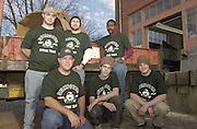 15095Campus recycling Group Photo:.Back row(left to right) Trevor Bullock, Justin Goodman, Henry Woods.Front row(left to right) Ed Newman, Zach Schultheis, Derek Myers