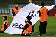 17.10.2010, Stadion, Lahti..Veikkausliiga 2010, FC Lahti - IFK Mariehamn..Veikkausliigan lippu..©Juha Tamminen.