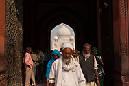 10.22.14 - Agra, India - Eunice and Will tour the Taj Mahal and Red Fort in Agra, India.