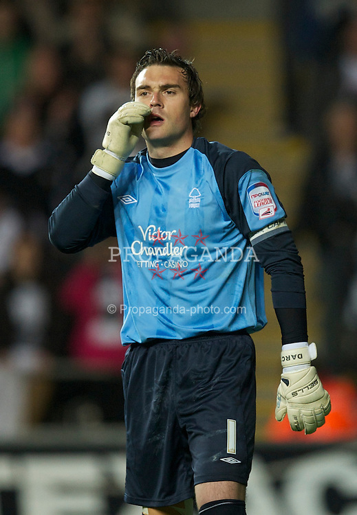 SWANSEA, WALES - Monday, May 15, 2011: Nottingham Forest's goalkeeper Lee Camp during the Football League Championship Play-Off Semi-Final 2nd Leg match against Swansea City at the Liberty Stadium. (Photo by David Rawcliffe/Propaganda)