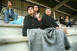 Vigo, Galicia, Spain<br /> Two women looking at the football match.<br /> &copy;Carmen Secanella.