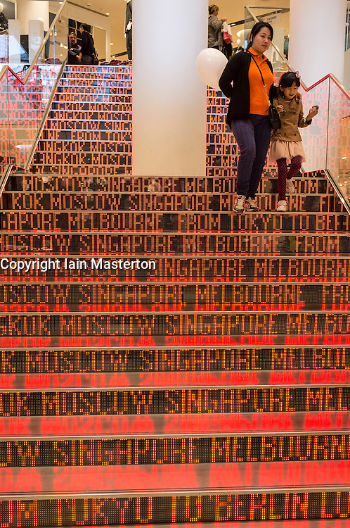 Interior  staircase of Uniqlo store in Berlin Germany