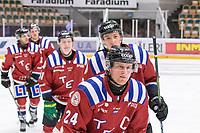 2020-01-19 | Umeå, Sweden:Teg (24) Kim Sehlstedt score 2-0 to Teg in AllEttan during the game  between Teg and Vallentuna at A3 Arena ( Photo by: Michael Lundström | Swe Press Photo )<br /> <br /> Keywords: Umeå, Hockey, AllEttan, A3 Arena, Teg, Vallentuna, mltv200119, happy happiness celebration celebrates